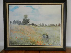 "Framed Monet print ""poppies"""