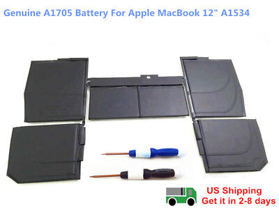 """New Genuine A1527 Battery for  MacBook 12"""" A1705 A1534 2015 2016 MF855LL/A"""