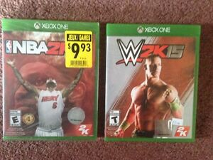 XBOX ONE $5.00 each (NBA 2K14 -SEALED and W2K15 -mint condition)