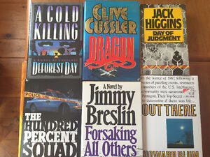 Spy,Intelligence,Military,War,Crime Hardcovers.....price reduced
