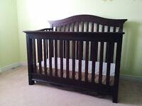Convertible Crib with Baby Mattress