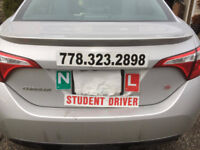 DRIVING LESSONS-ICBC ROAD TEST CAR RENTAL AVAILABLE- BE SAFE