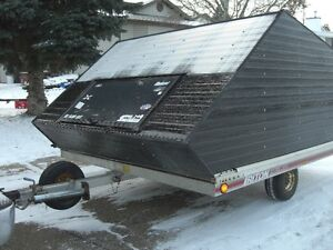 1995 8 x 10 INCLOSED TRITON EXTREME DOUBLE SLED TRAILER
