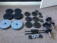 WEIGHT PLATES AND DUMBBELLS NEEED GONE ASAP TODAY