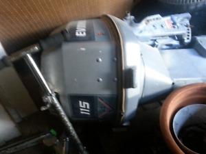 Boat motor.  V4  115 evinrude