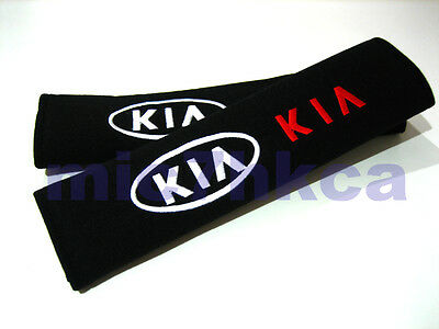 2x soft car seat belt harness cushion shoulder cover pads for KIA (UK stock)