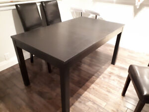 Ikea Bjursta Dining Rm Table & 4 chairs Perfect Condition $300