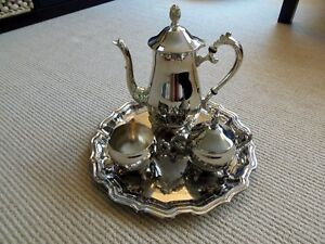Antique Silver Plated Tea / Coffee Serving Set