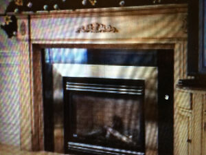 Pine wood fire place mantle