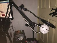 Blue snowball on boom arm and pop filter £35