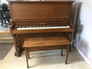 Newcombe Piano with ivory keys and bench