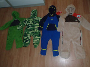 NEW THE NORTH FACE,CABELA'S FLEECE BUNTING SUITS,12,18,24 MONTHS