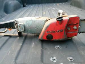 antique electric chainsaw