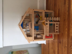 Plan Wooden Furnished Doll House