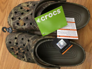 Camo Crocs brand new never worn tags still on. Size 10..... $25