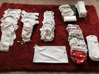 Large collection of washable nappies