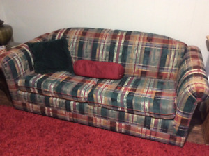 Sofa with pull out bed & mattress