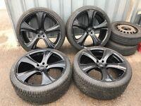 "22"" Kahn alloy wheels alloys rims land Range Rover BMW X5 x6 Vw Volkswagen transporter 5x120"