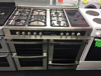 LEISURE BRAND NEW 100CM DUAL FUEL RANGE STYLE COOKER IN SILIVER