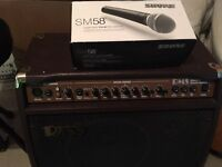 Shure mic and amp