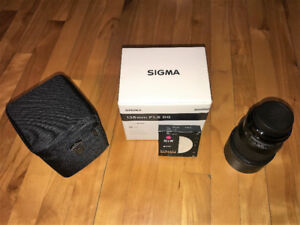 Sigma Art 135mm 1.8 for Canon MINT CONDITION + B&W Filter