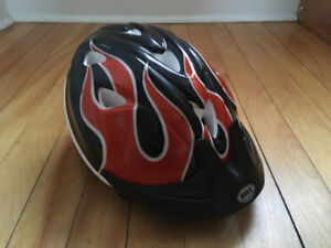 Toddler Helmet with Flames! : )