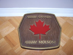 13 x 13 MOLSON CANADA BEER SIGN - rare