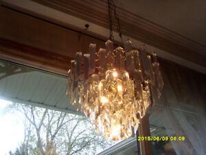 Indoor lighting VINTAGE LUCITE CHANDELIER - $350