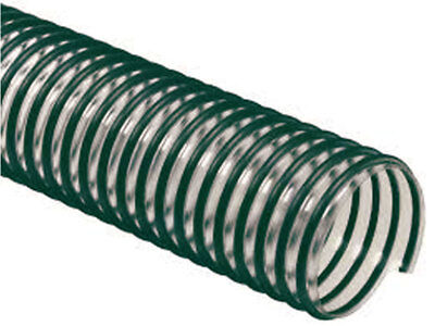 Lawn and Leaf Vacuum Hose - 8in ID x 12ft Clear PVC Yard Vacuum Hose