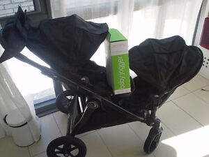 Baby Jogger City Select double + Adaptateur siège auto