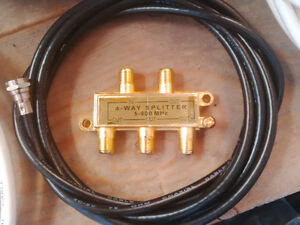 Coaxial cable 100' & various, HD Switches, Splitter, couplers Kitchener / Waterloo Kitchener Area image 2