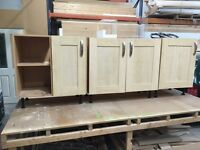 Used kitchen cupboards, oven, hob and extracter