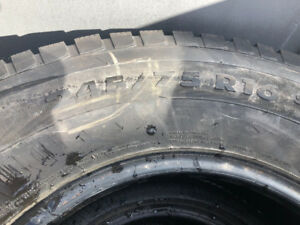 Four Winter Tires size 245 75R 16