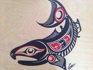 Haida native Indian art on box