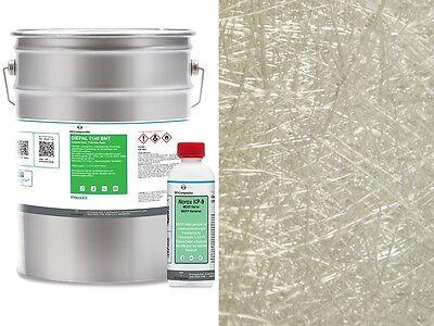 5kg GFK Polyesterharz und 5qm Glasfasermatte 300g Glasfaser Formteile Harz