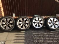 "4 X BMW 17"" BBS alloys"