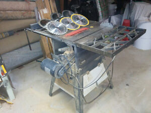Table Saw with Blades