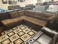 Full Size Fabric Sectional for only $499 2 PCS