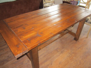 Pine Farmhouse table and bench