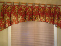 window valances $10.each; 4 pillows $5.each