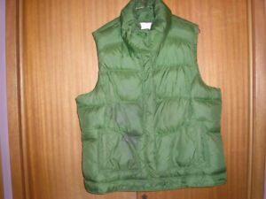 OLD NAVY Green Nylon Vest with Thick Fleece Lining
