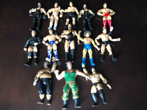 ABOUT THIRTEEN WWE WRESTLING ACTION FIGURES, LJN, VINTAGE