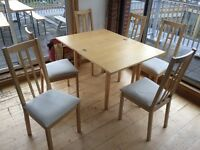 Dining table and 6 chairs - Collection Only