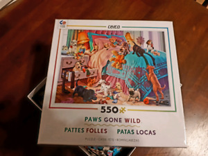 550 piece Paws Gone Wild puzzle