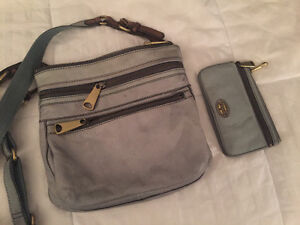 Fossil cross body purse with matching wallet