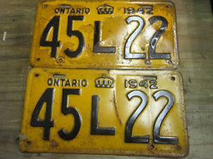 Ministry Approved License Plates for Classic cars.
