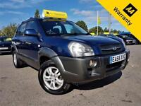 2005 HYUNDAI TUCSON 2.0 CDX CRTD 4WD 111 BHP! P/X WELCOME! AUTO! ELEC S-ROOF!