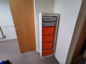 White IKEA TROFAST storage
