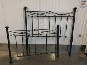 Lovely Bronze/Brown Metal Double Headboard and Baseboard