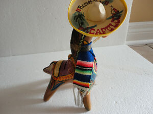 VTG Tlaquepaque Mexican Hand Painted Art Clay Pottery Horse bank London Ontario image 3